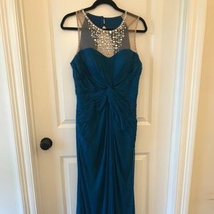 Adrianna Papell Collection Jeweled Neck Gown
